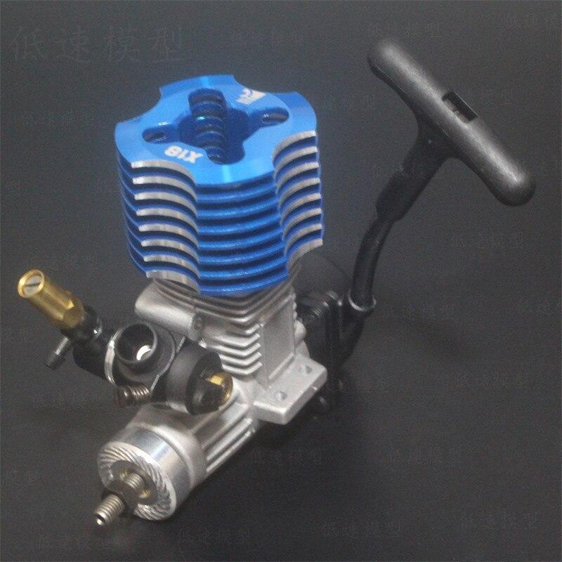 Upgrade FC 18 Engine 2.74cc Trekstarter RC 1/10 Nitro Auto On road Car Buggy Monster Bigfoot Truck voor 94122/94166/94188-in Onderdelen & accessoires van Speelgoed & Hobbies op  Groep 2