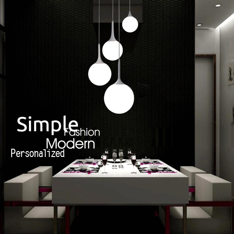 Modern minimalist glass spherical lamp creative personality living room bedroom restaurant Pendant Lights FG559 t10 creative personality restaurant pendant lights led modern minimalist ring study lamp master bedroom living room office lightscl