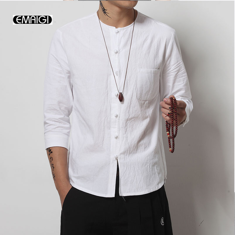 Collarless Cotton Shirt Promotion-Shop for Promotional Collarless ...