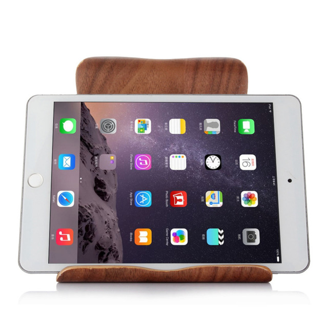 Holder for Your Mobile Phone New Tablet Stand Premium Hard Natural Wood Stand Phone Holder  for iPad Mini Air /  Air 2 /Pro