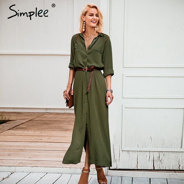 ... Formal Suits Women 2018 Autumn Pencil Dresses With. Add Cart.  15.99.  Simplee Casual buttons split long shirt office lady ... ff0661a5b922