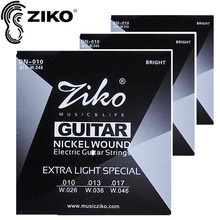 ZIKO .010-.046 Electric Guitar strings guitar parts musical instruments Accessories 3Sets