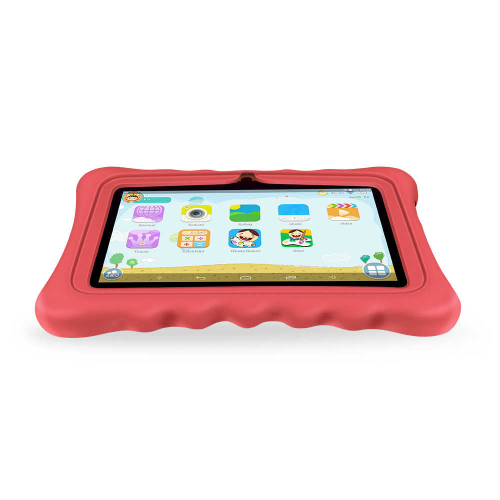 """Yuntab 7"""" Q88H Quad Core touch screen Tablet PC load Iwawa kid software 3D-Game bluetooth Kids Tablet  with Chic stand Case(red)"""