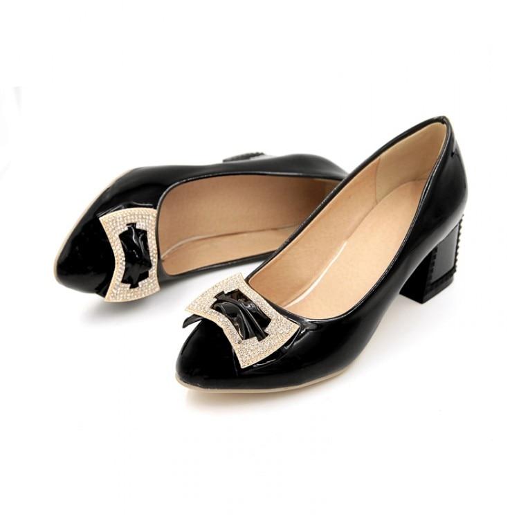 Chaussures De En Talons Pompes Mariage 12 Soirée Lady Bout black Luxe Pink Hauts Diamant Verni 4 Femmes white Carré Pointu Fermé Bouche Plus Size Cuir Peu nfHqwRTY