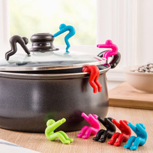 2pcs/lot Silicone Pot Cover Heightening Prevent Spill Control Creative Cooking Tools