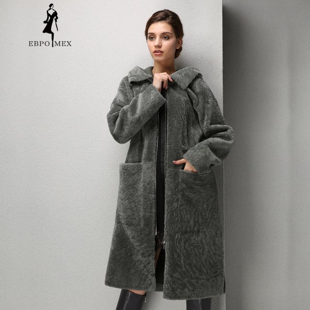 2bc68ab549c Winter Fashion women mouton fur coat