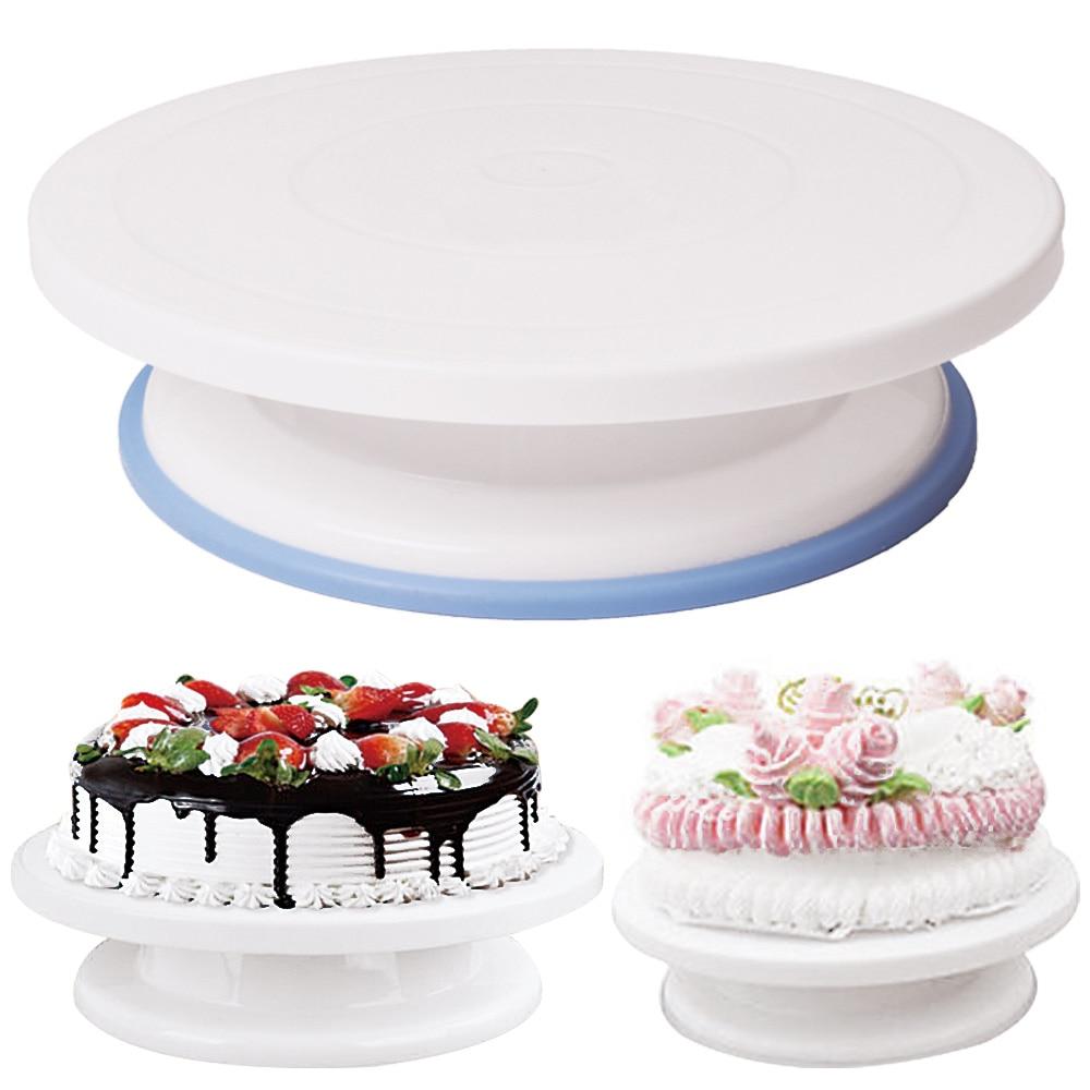 1Psc 28Cm Anti skid Round Cake Turntable Plastic Rotating ...