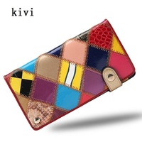 Women Patchwork Card Id Holders Women Genuine Leather Hasp Trunk Cards Holder 2017 Fashion Credit Card