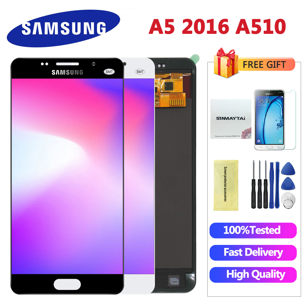 AAA+ Quality LCD for Samsung A5 2016 LCD Display A510 A510F A510M SM A510F Touch Screen Digitizer LCD Assembly Replacement|Mobile Phone LCD Screens|   - AliExpress