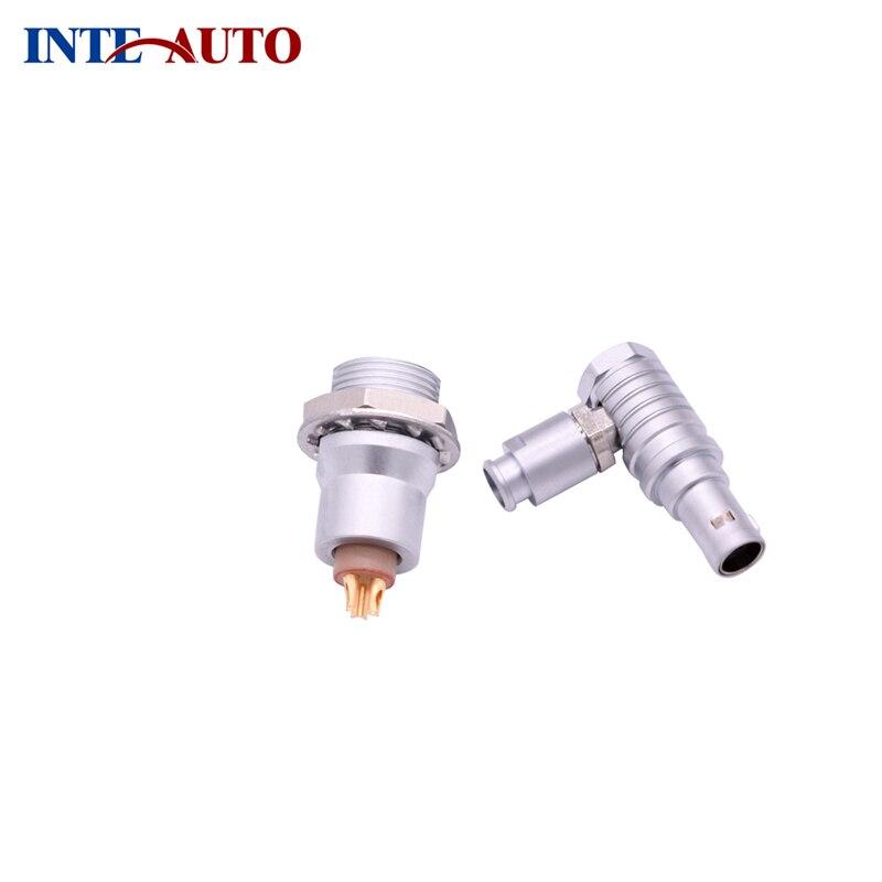 3 Pins Circulaire Push Pull Power Connector, Metalen Elleboog Plug, Elektrische Panel Bakje, FTHG.0B. 303 EZEG.0B. 303