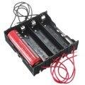 Alta calidad ABS + Metal de 4 Vías de 4 Ranuras 18650 de La Batería Caja de almacenaje Del Sostenedor con 8 cables Conductores para 4x18650 batería