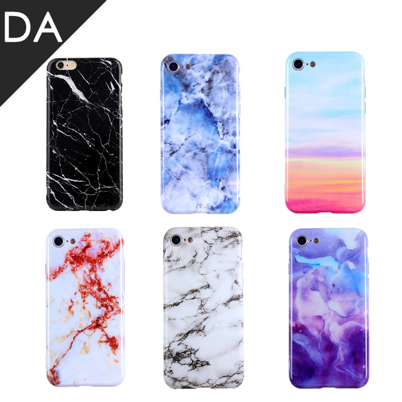 For IPhone Case Marble TZEON Soft TPU Marble Case Granite Pattern Luxury Silicone Cover for iPhone8 7 X fundas POP Back Shell