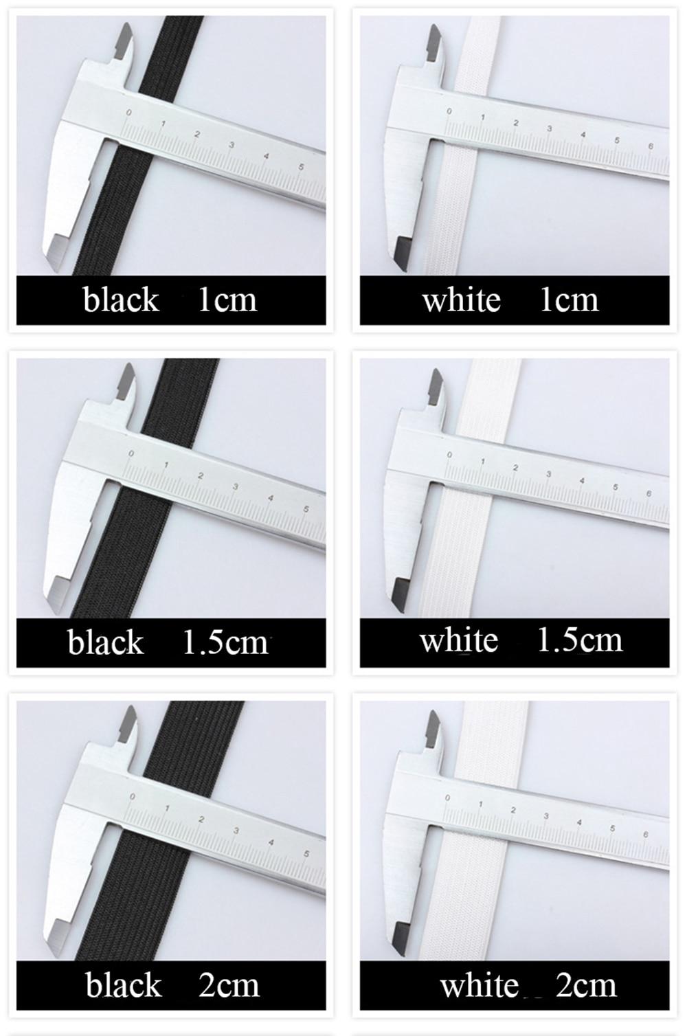 5 м/15/20/25/30/35/40/50/60 мм Эластичная лента аксессуары для пошива одежды нейлоновая эластичная резинка швейной черный, белый цвет