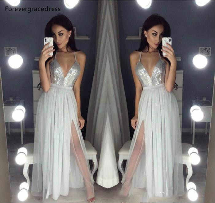 Сексуальные Серебристые серые длинные вечерние платья А Линия Спагетти формальная Женская праздничная одежда знаменитые вечерние платья большого размера на заказ