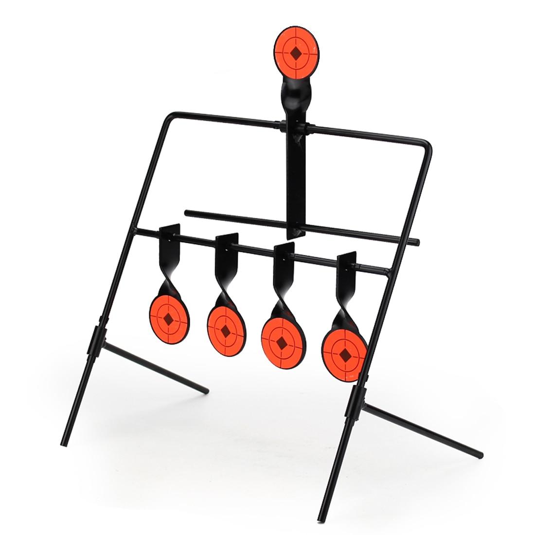 5 Targets Self Resetting Spinning Air Gun Rifle Shooting Metal Target Set Practice Playing For Airsoft For Nerf Firing Playing
