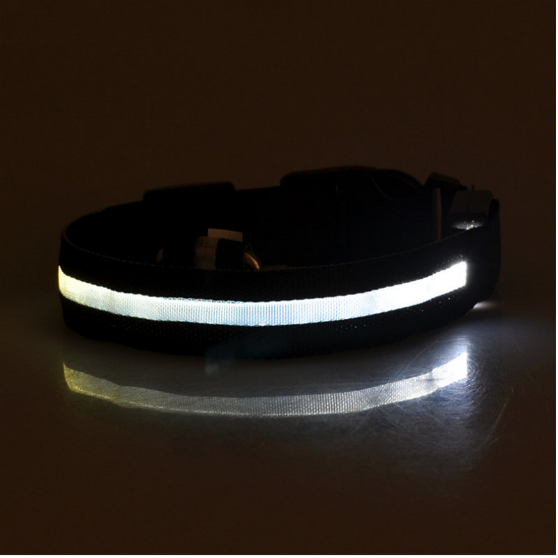 Y2022 style LED For Dogs Nylon Night Safety Glow Flashing Light Up Leash Head harness Luminous Puppy Necklace Small Dog