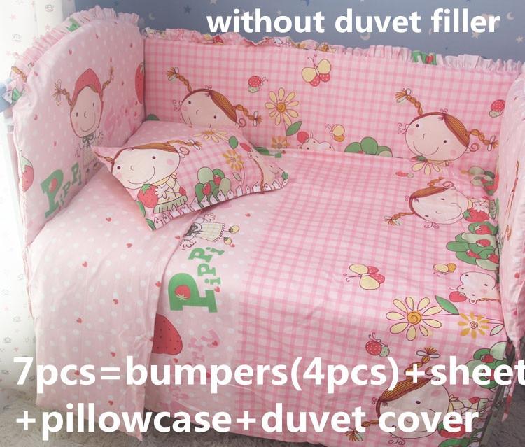 Promotion! 6/7PCS 100%cotton reactive printing baby bedding set/cotton crib bedding sets,duvet cover,120*60/120*70cm promotion 6 7pcs crib sheets bedding set for girls 100% cotton crib bedding duvet cover 120 60 120 70cm