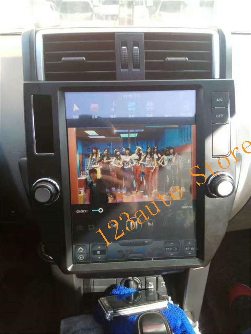 Autocardvdgps 12.1 inch vertical tesla style android 7.1 auto car dvd gps player for  toyota land cruiser prado 150 2010 2011 2012 2013 radio