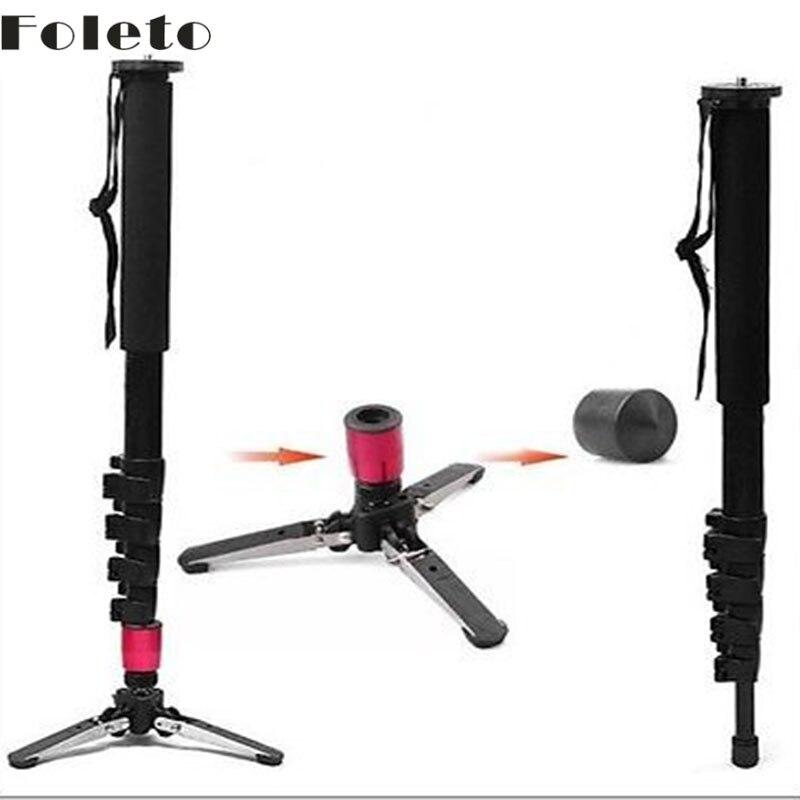 Trépied design Pro appareil photo en alliage d'aluminium DSLR Unipod monopode verrouillage à rabat avec trépied à 3 pieds pour appareil photo canon nikon sony DSLR