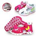 NOVA Adorável 1 pair Menina Verão Crianças Sandálias flor Do Bebê Sandálias Sapatos, Super Qualidade Crianças Sapatos Macios