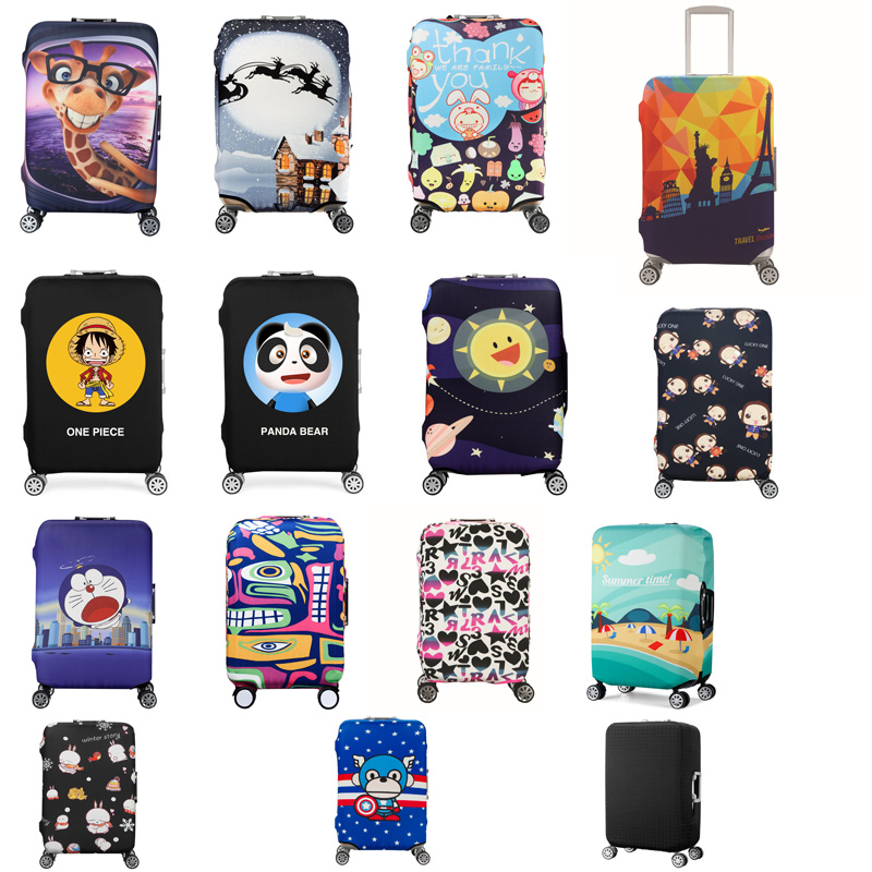 Luggage Protective Cover For 19-32 inch Trolley Suitcase Protect Dust Bag Case Child Cartoon Travel Accessories 4