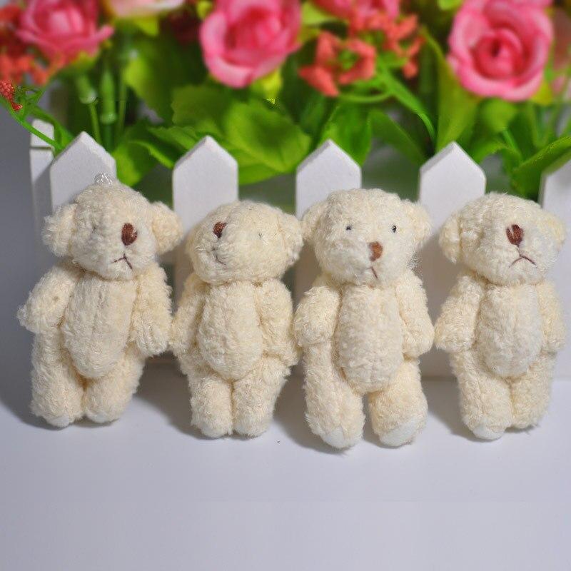 10pcs Kawaii Mini Small 6CM Approx. Accessory Plush Toys - 6CM Joint Bear Stuffed TOY DOLL Decor Bear TOY DOLL