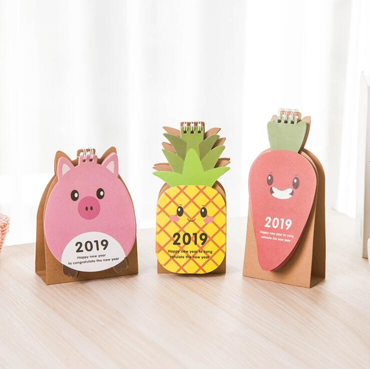 Gentle 2019 New Year Calendar 2019 Fashion Simple Lovely Mini Table Calendars Vintage Kraft Paper Desk Calendar Office School Supply Calendar Office & School Supplies