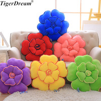 55cm Rose Plush Toys Soft PP Cotton Stuffed Dolls Flower Series Cushions Sleeping Pillows Sofa Decoration Gifts 6 Colors
