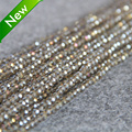 Beautiful 3*4mm Faceted Gray AB+ colorful glass Crystal stones Jasper beads loose 150pcs DIY Jewelry making design wholesale