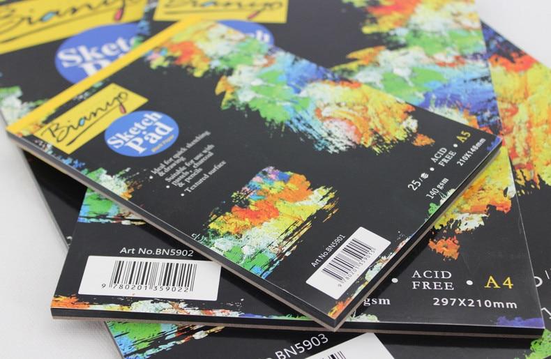 Bianyo 25 листов А4/А5 Черная бумажная коробка блокнот, художественный маркер скетч книга для рисования Дневник для рисования журнал креативный подарок