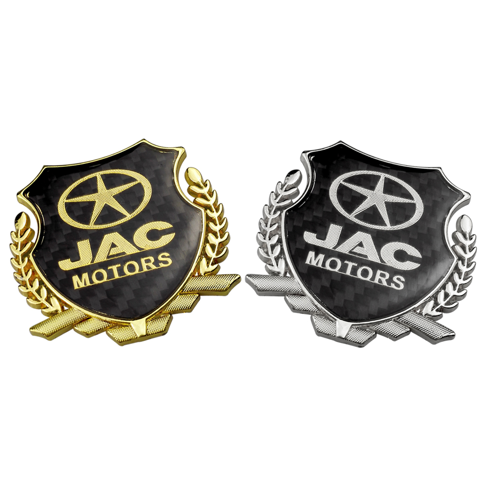Auto Accessories Emblem For JAC S2 S3 S5 M6 S7 J2 J3 J5 J6 J3S Heyue A30 Tojoy Refine IEV Badge Carbon Fiber Sticker Car Decal
