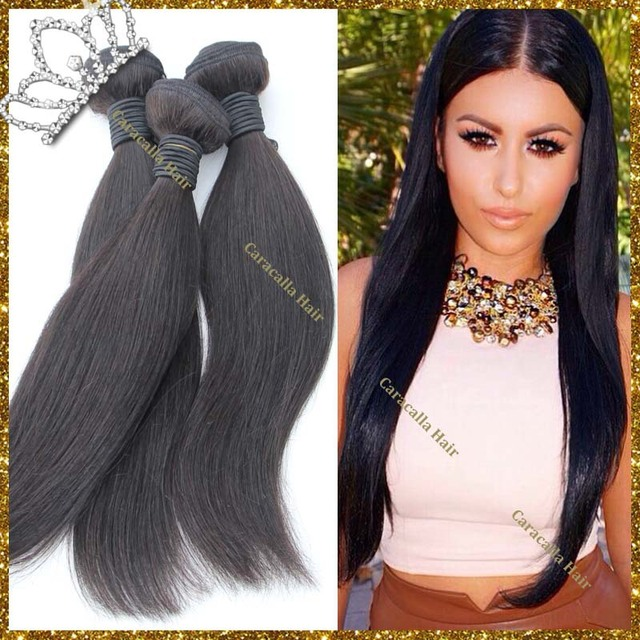 Stock Cheap Hair Weaving Silky Straight Full Ends Natural Color Hair  Extensions For Black Women 6f88595f69