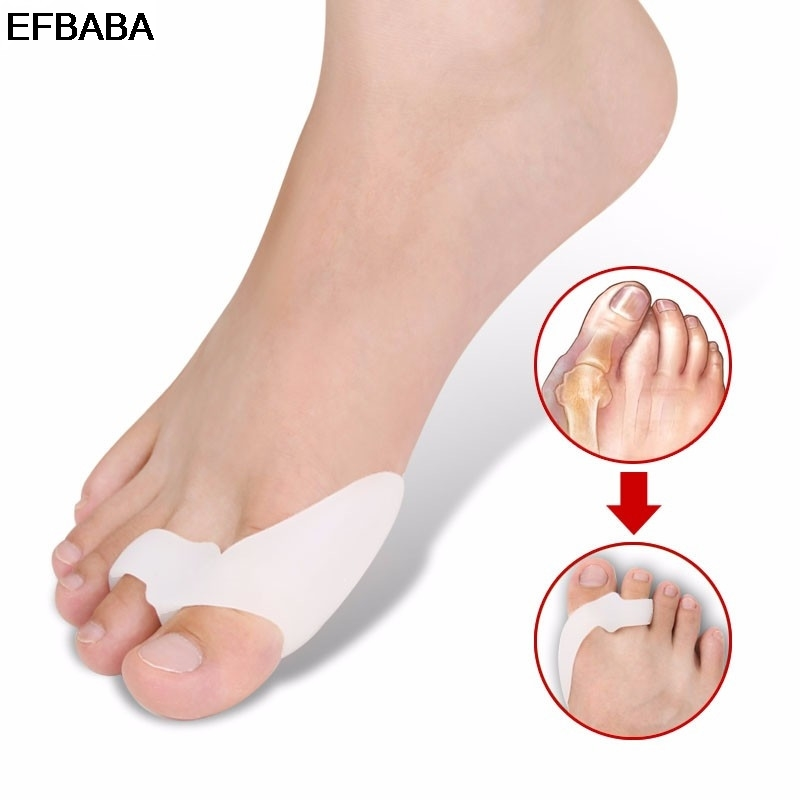 EFBABA Silicone Gel Insole Orthopedic Shoes Pad Inserts Accessoires Orthopedic Insoles Hallux Valgus Correction Toe Separation 1pair free size toe straightener big toe spreader correction of hallux valgus pro toe corrector orthopedic foot pain relief