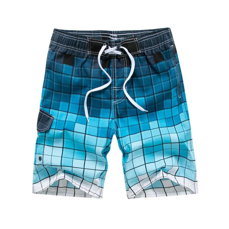 Quick Dry Strand Shorts Für Männer Blau Farbverlauf Plaid Boardshorts Bermuda Bademode Liner Shorts Zwemshort Heren Plus Größe Delikatessen Von Allen Geliebt Herrenbekleidung & Zubehör