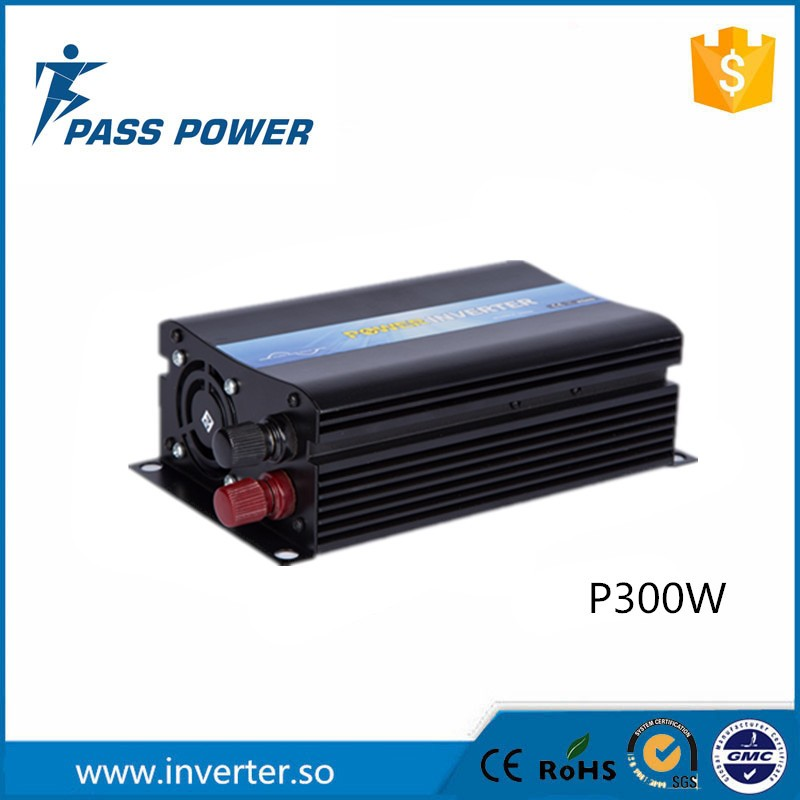цена на CE RoHS Approved off grid pure sine wave 300watt battery inverter