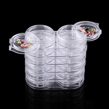 6Layer 12 grid/set DIY nail art accessory empty storage pot box,rhinestone glitter sequins removable plastic rhinestone box tool