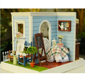 Chegada nova Diy casa de boneca em miniatura Handmade montagem modelo de brinquedo casa de bonecas de madeira doce Mary cozido