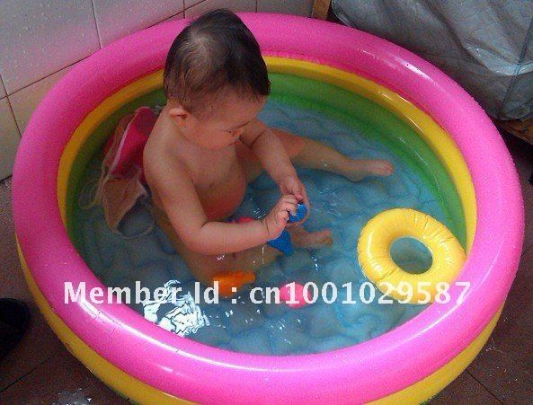 freeshipping intex 58924 water pool with hand pump kids' inflatable bath pool Inflatable Swimming Pool for baby