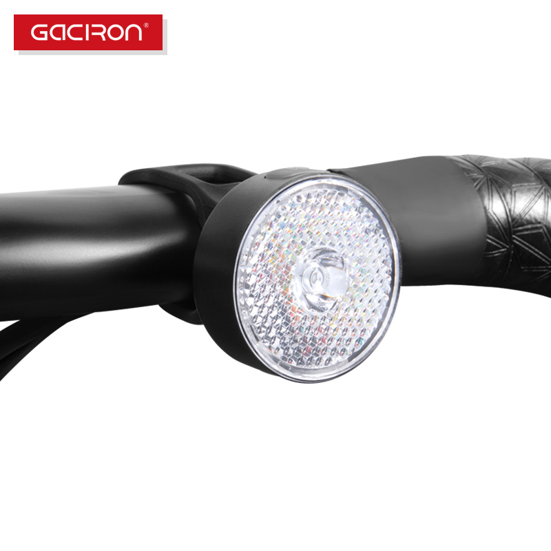 GACIRON 20LM Spotlight/Floodlight Warning Light Smart Bike Front Lights Bicycle Taillight Safe Cycling Waterproof Accessories