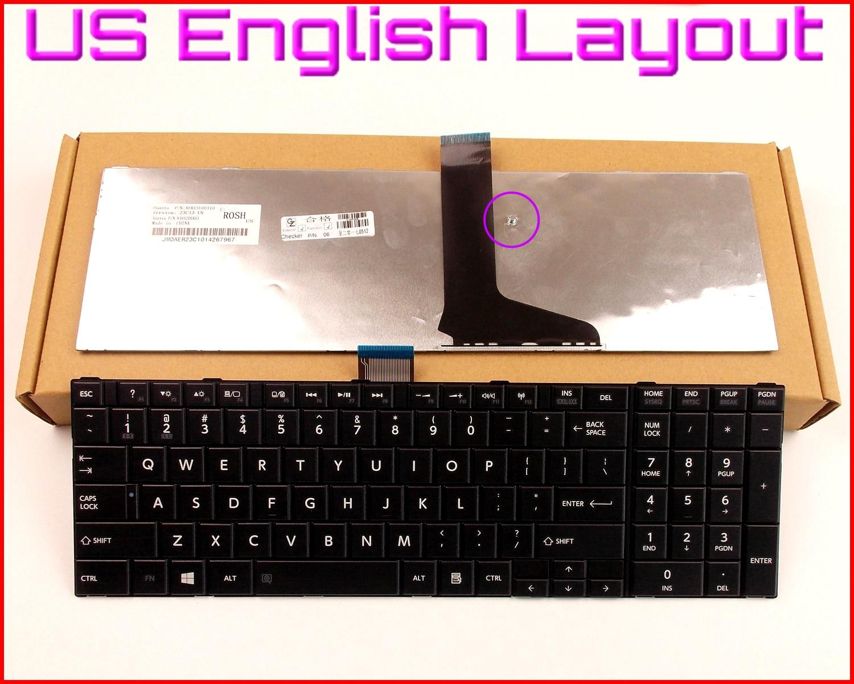 New Keyboard US English Version For Toshiba 9Z.N7USV.01D PSC8SU-00D001 V130526AS1 V000272340 PSKBQU-004004 PSKBQU-00L003 Laptop