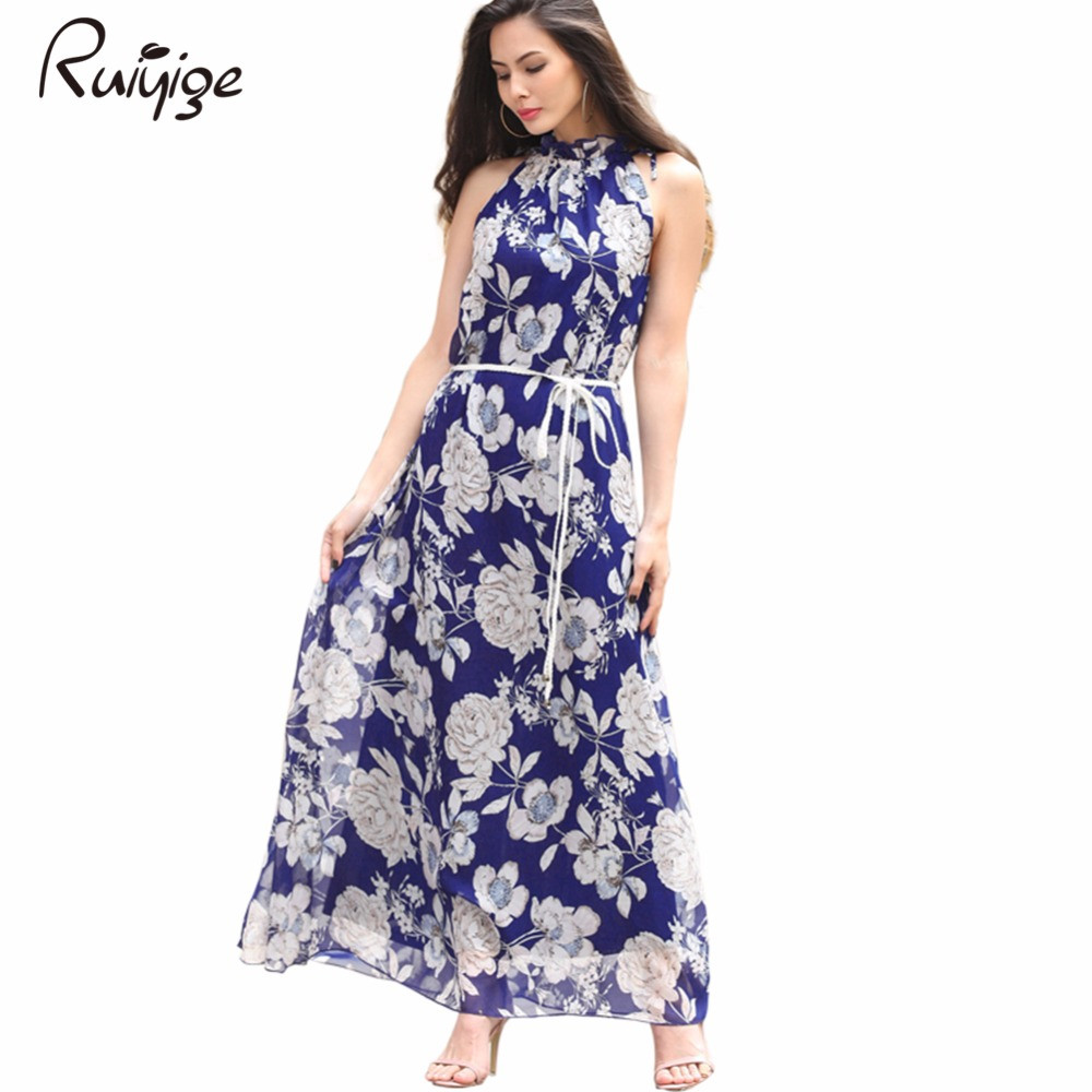 2017 Womens Summer Maxi Dresses New Arrival Ladies Boho ...