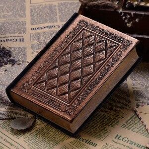 Image 2 - 416 páginas de espessura vintage em relevo xadrez retro notebooks alívio europeu antigo ouro capa dura notebook leiteria