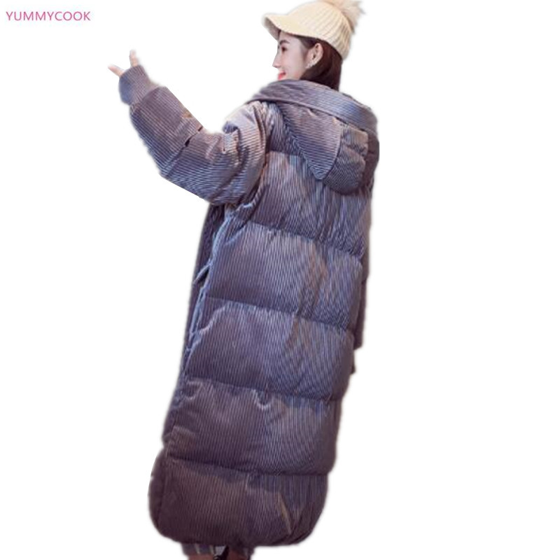 À Hiver gray Capuchon Manteaux Zipper Nouvelles Femmes Bas D'hiver Long Chaud Black Épaissir 252 Veste Occasionnel Lâche Coton Parker FIqIwrUB