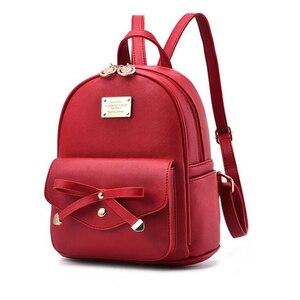 Image 3 - FGJLLOGJGSO Fashion Women Bag School Lady Backpack PU Leather small Student Shoulder Casual Female Backpacks Softback Bags Sac