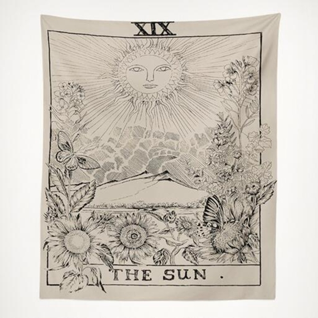 Tarot Hanging Tapestries Sun Star Moon Tapestry 3