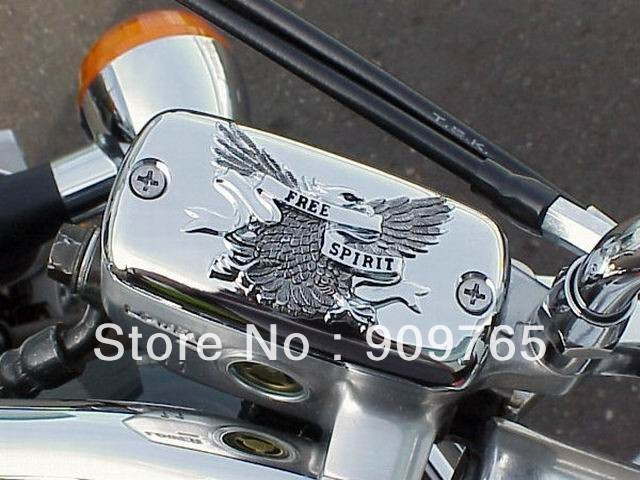 Motorcycle Accessories CHROME Front Brake Reservoir Fluid Cap For Honda Valkyrie Goldwing 1500 1800 VTX