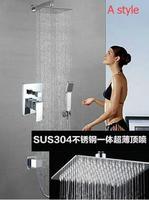 Товары для ванной набор для душа кран смесителя в стены двойной функции встроенные окно микшера Клапан набор для душа 8 дюймов душ кран