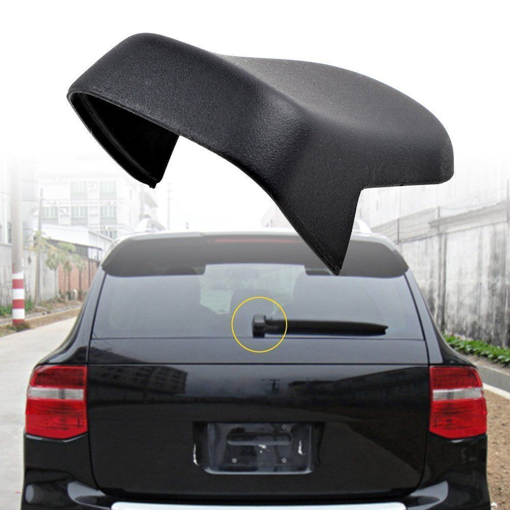 BBQ @ FUKA New Rear Hatch Window Wiper Switch Cap Nut Cover Fit For 2004-2010 Porsche Cayenne