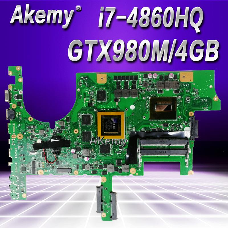 Akemy <font><b>G751JY</b></font> <font><b>Motherboard</b></font> For Asus <font><b>G751JY</b></font> G751JT G751J G751 Laptop <font><b>motherboard</b></font> Mainboard i7-4700/4710/4720HQ GTX980M/4GB image