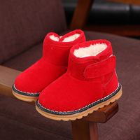 Warm Plush Children S Winter Shoes Rubber Boots For Girls Baby Snowshoes For Boy Soft Flock